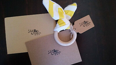 The Duckie Box - Baby Gift Set - Teether - Personalised Card - Baby Shower Gift2