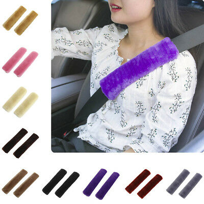 2 Pcs Cars Auto Safety Strap Cover Harness Pillow Shoulder Seat Belt Pad Cushion