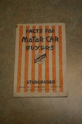 1916 Studebaker - Facts For Motor Car Buyers Car Dealer Brochure Booklet