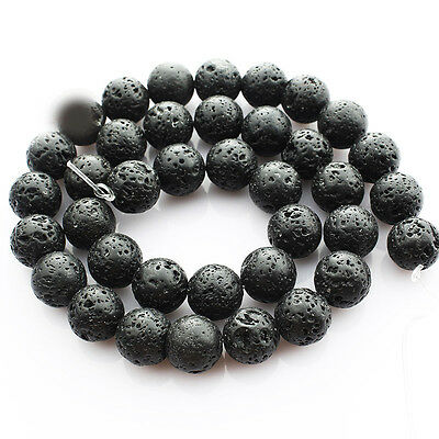 Natural Charming Volcanic Lava Gemstone Round Loose Spacer Beads 4/6/8/10/12mm