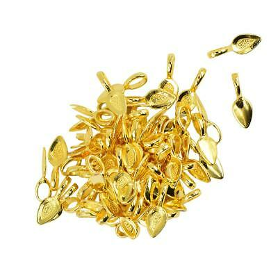 100pcs Gold Spoon Glue on Bail for Earring Bails Tile Glass Charms Craft