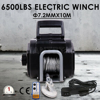 Wireless 6500LBS/ 2946KG Electric Boat Winch Portable Detachable 4WD 4x4 Trailer