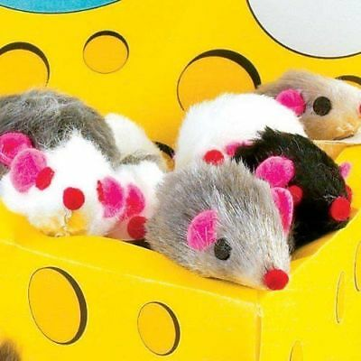 US Shipped, Happy Realistic Mice Furry Mice Cat Toy For Cats and Pets Mouse Toy