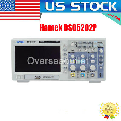 DSO5202P 2Channels 7'' TFT LCD 800x480 USB Digital Oscilloscope 1GS/s 200MHz US