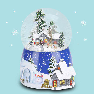 Christmas Musical Box Snow globe Xmas tree House Waterball Toys Easter Gifts AU