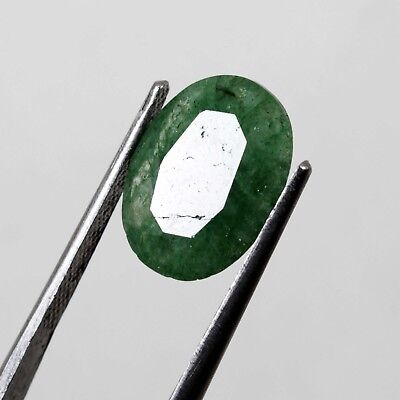 5.50 Ct Natural Oval Cut Beautiful Colombia Green Emerald Gemstone
