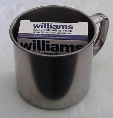 Williams Mug Shaving Soap - Quality Product From USA + Stainless Steel Mug Combo