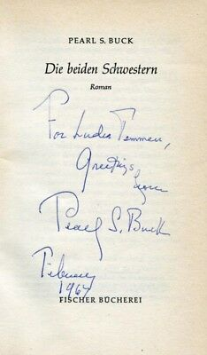 Pearl S. Buck NOBEL PRIZE autograph, signed book