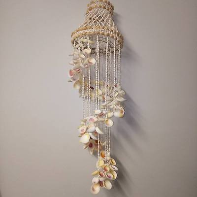 LARGE 80cm hanging chandelier. Rose cockle. Beach home decor art gift hamptons