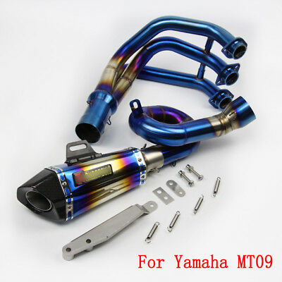 For Yamaha MT09 Front Header Link Pipe Slip on Motorcycle Exhaust Tip Escape