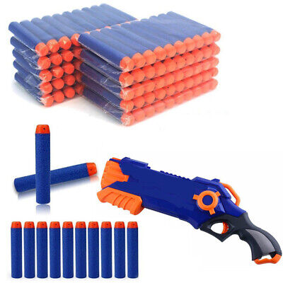 100Pcs Gun Soft Refill Bullets Darts Round Head Blasters For Gun Toy Kids Gift
