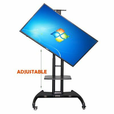 Height Adjustable Mobile TV Floor Stand Fit For 32-65 Inch TV Bearing 45kg FC
