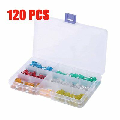 120pc 3-30A Micro Mini Blade Fuse Puller Car Auto Bus Vehicle Assorted Kit Set F