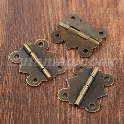 20pc Retro Butterfly Hinges Jewelry Box Cabinet Dollhouse Door Hinges Decorative