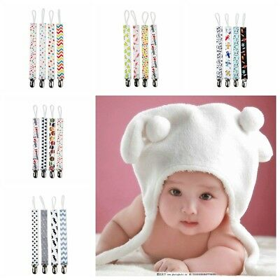 Baby's Feeding Supplies 4pcs/set Colorful Pacifier Clip Chain otton Dummy Holder