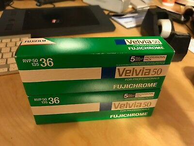 Fujifilm Fujichrome Velvia 50 (RVP50) - Color slide film 135 (35 mm) 5 rolls