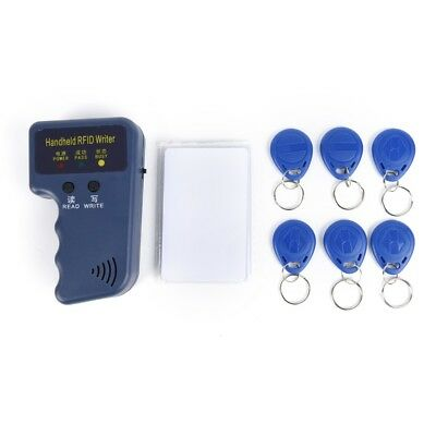 13pc Handheld RFID ID Card Copier/Reader Duplicator 6 Writable Tags + 6 CardsH&T