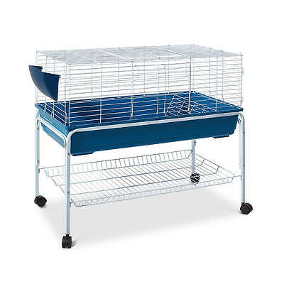 Large Heavy Duty Indoor Rabbit Guinea Pig Cage Hutch Stand With Wheels