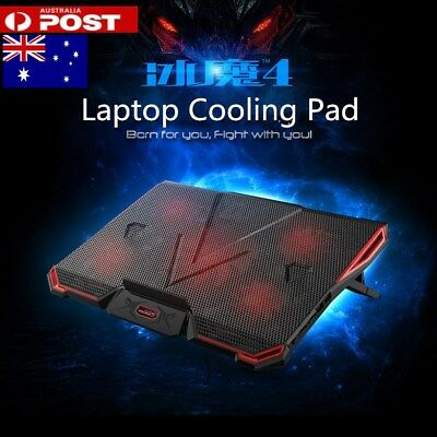 "For 12""13""14""15""17""Fashion Laptop Cooling Pad with 5 Fans Desktop Stand Cooler"