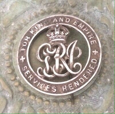 For King And Empire Services Rendered Badge