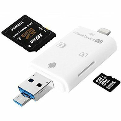 Micro Sd Card Reader For Iphone 7 6S Plus And Android Phone Usb Otg Sdhc New