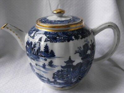 Beautiful blue and white china porcelain pottery teapot Oriental