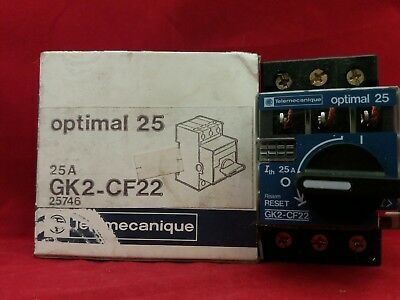 Telemecanique Gk2-Cf22 25A 25Amp Manual Motor Starter Breaker Switch