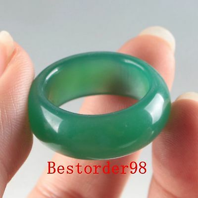 Exquisite Natural Jade Handwork Carved Ring PC0003