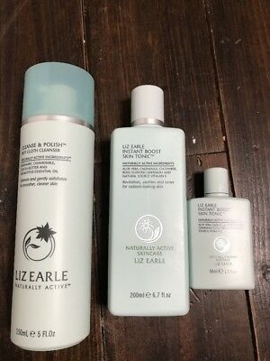 Liz Earle Hot Cloth Cleanser And Instant Boost Skin Tonic. Brand New. Full Size.