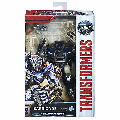 Transformers The Last Knight Premier Edition Deluxe Barricade Action Figure Game