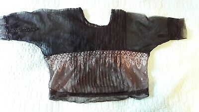 Genuine Vintage Victorian bead and lace top size 8-10
