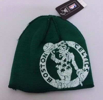 f284a1e4ced4f Boston Celtics NBA Distressed adidas Winter Fitted Knit Beanie Hat Skully  Cap