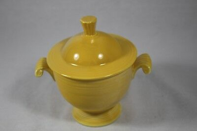 Vintage Homer Laughlin HLC  Fiesta ware Sugar Bowl Yellow with Lid