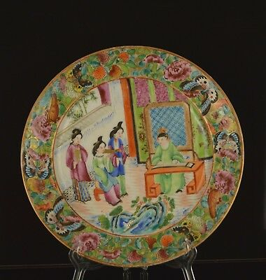 A Very Fine & Perfect 19Th Century Chinese Canton Plate With Musician