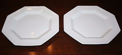 "Johnson Brothers Heritage White...Two 10"" Dinner Plates"