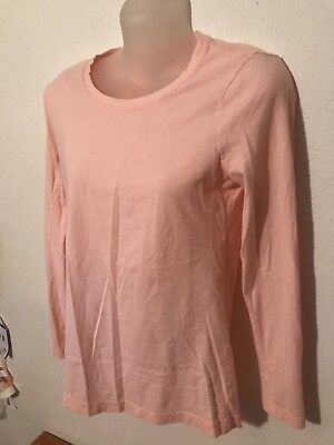 Young ladies Faded Glory long sleeve shirt. Size s/ch(4-6) peach colored