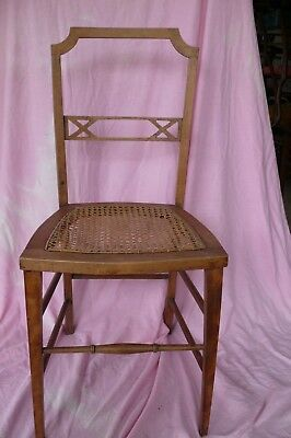 Vintage Edwardian cane bedroom chair