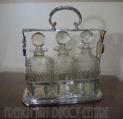 """ERCUIS French Silverplated """"LETITIA"""" Tantalus  c1920"""