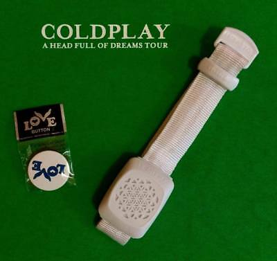 COLDPLAY Xylobands MILANO / Bracelet + Pin Ghost Stories Promo Live 2017 Milan