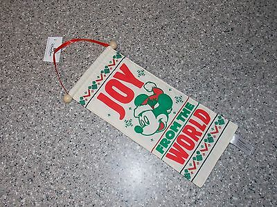 Disney Parks Christmas Mickey Joy From The World Door Hanger New With Tags