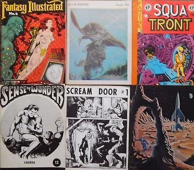 Lot of 17 60s-70s Fanzines: Spa Fon, Squa Tront, Legend, Scream Door, Fantagor..