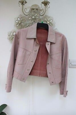 Vintage reversible Pink leather or suede jacket size small