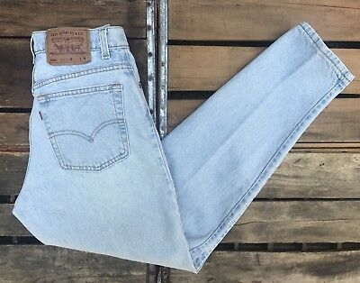 Vintage LEVI'S 550 High Waist Relaxed Fit Tapered Denim Jeans Women's 11M 30x30
