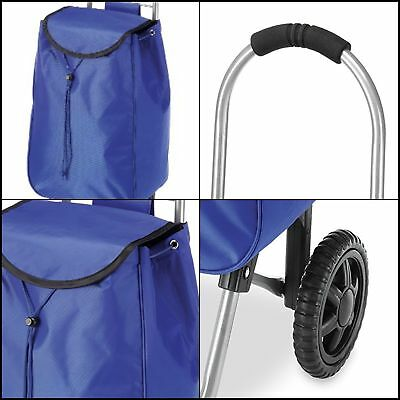 Rolling Bag Cart Foldable Trolley Waterproof Shopping Grocery Climber Compact