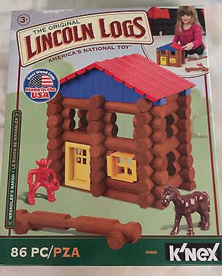 Knex Hasbro The Original Lincoln Logs Wranglers Ranch Toy Set 86 pieces NEW