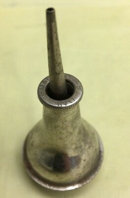 Small,Tiny Old VTG machinist/sewing machine Tin Oil can,Oiler Antique rare Tool