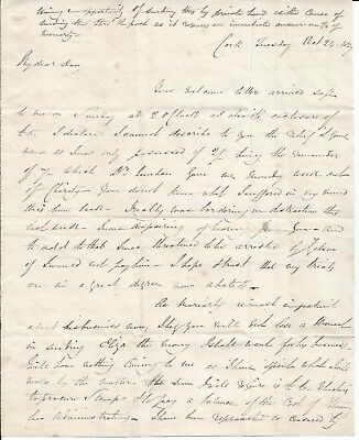 1827 Letter From A Confessed Sponger, Seeking To Escape This Horrible Place Cork