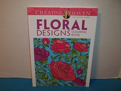 Creative Haven Floral Designs Coloring Book Brand New