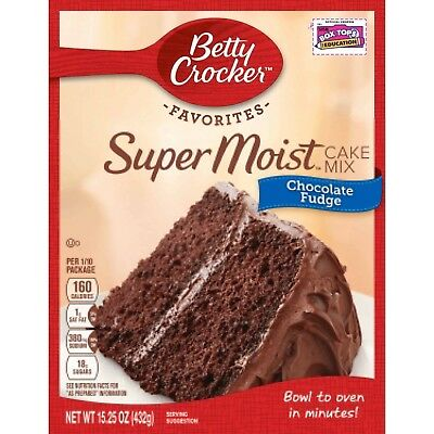 New Betty Crocker Super Moist Cake Mix Chocolate Fudge 15.25 Oz Free Shipping