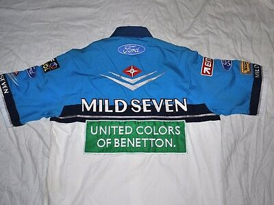 Very Rare Mild Seven Benetton Ford Team Issue Shirt 1994 W/c   Size Large